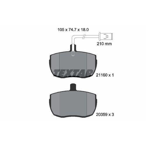 TEXTAR - Zestaw klocków hamulcowych, hamulce tarczowe (4019722078781)