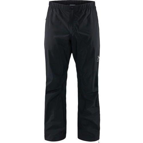 l.i.m spodnie długie mężczyźni czarny m 2019 spodnie przeciwdeszczowe marki Haglöfs