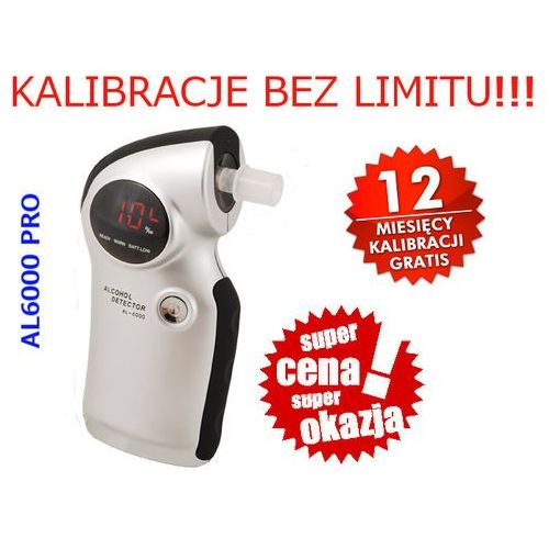 Alkomat cyfrowy półprzewodnikowy z pomiarem do 4 promili + 100 ustników gratis marki Sentech