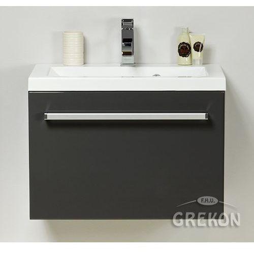 Szafka wisząca z umywalką kolor szary 60/39 seria fokus sz marki Gante