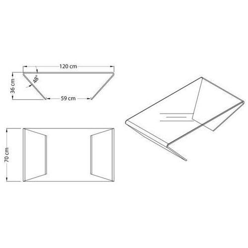 Stolik szklany TRAPEZIO - szkło transparentne, CB-062 (7812630)