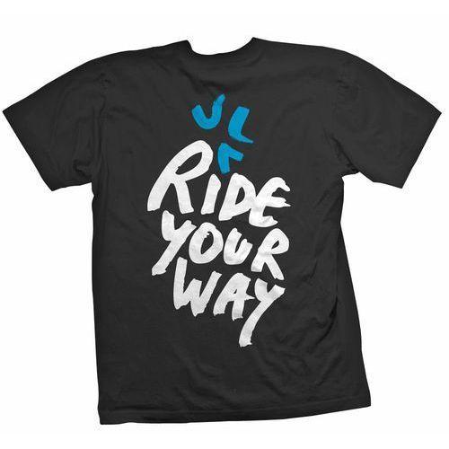 Koszulka krótki rękaw ride your way czarno-biało-turkusowa marki Dartmoor