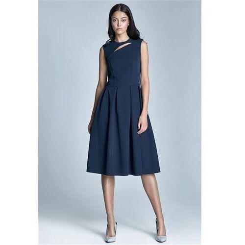Sukienka Model Ann S73 1213 Navy, kolor niebieski