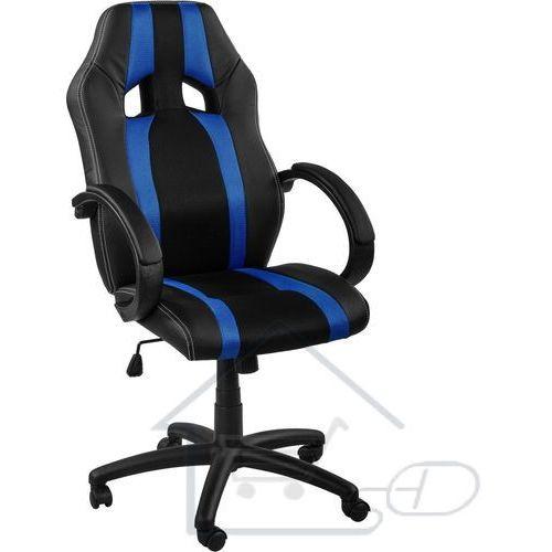 1 Fotel obrotowy dla gracza, racemaster, niebieskie pasy