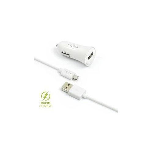 Fixed Zasilacz samochodowy 1x usb, 2,4a + micro usb kabel (fixcc-um-wh) biały