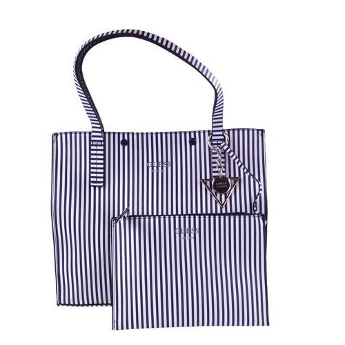 Torebka Guess Kinley Blue Stripe