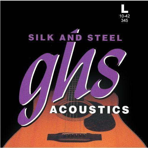 GHS Silk and Steel struny do gitary akustycznej, Silver-plated Copper, Light,.010-.042