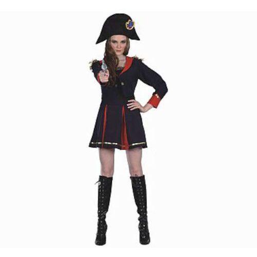 """_xx_strój dla dorosłych """"dama kapitana piratów"""" (czapka, kurtka, top, spódnica), roz. 42 marki Godan"""