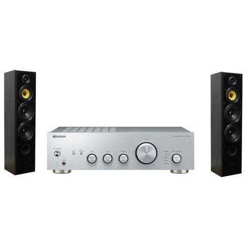 Zestaw stereo a40aes + taga tav-606f czarny marki Pioneer