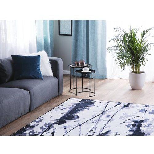 Beliani Dywan biało-niebieski 160 x 230 cm krótkowłosy izmit (4260624113036)
