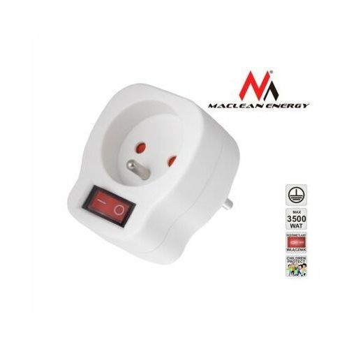 Maclean Gniazdo prądowe MCE13 z wyłącznikiem (5903292801544)
