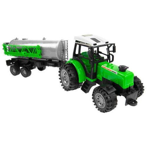 Zestaw dwóch ciągników + maszyny rolnik farma marki Kindersafe