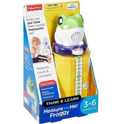 Zabawka fisher price żabka - mierz ze mną!, zabawka interaktywna z miarką. + zamów z dostawą w poniedziałek! marki Mattel