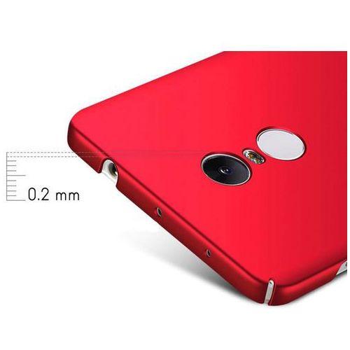 Etui MSVII Thin Case Xiaomi Redmi Note 4 (MediaTek) czerwone +Szkło - Czerwony, kolor czerwony