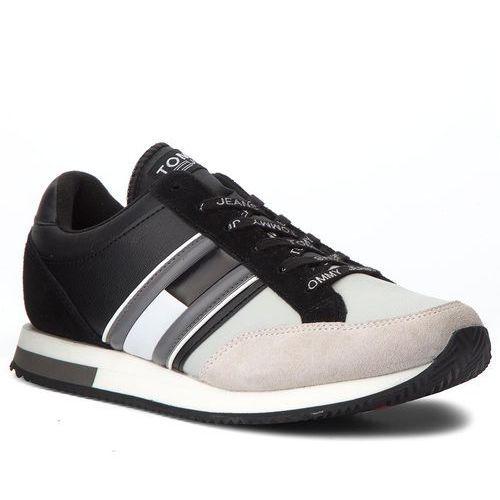 Sneakersy - casual retro sneaker em0em00112 black/ice 902, Tommy jeans, 40-46
