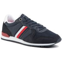 Sneakersy - iconic material mix runner fm0fm02667 desert sky dw5, Tommy hilfiger, 40-46