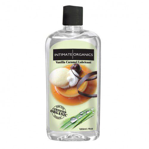 Środek nawilżający - Intimate Organics Vanilla Caramel Lube 120 ml Waniliowy - produkt z kategorii- Żele erotyczne