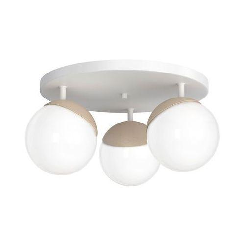 sfera wood mlp5429 plafon lampa sufitowa 3x40w e14 biały mat / brązowy marki Milagro
