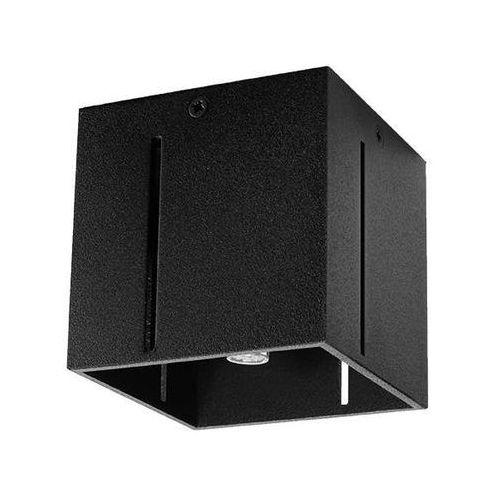 LAMPA sufitowa SOL SL.400 metalowa OPRAWA kwadratowa kostka cube czarna