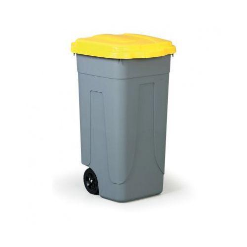 B2b partner Mobilny kosz na odpady 100 l, żółte wieko (8004331001011)