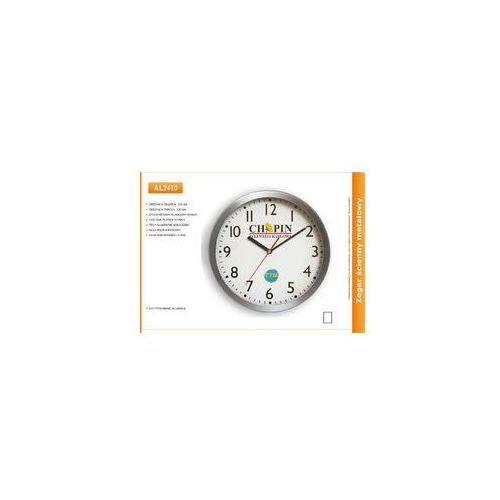 Zegar reklamowy aluminiowy /250mm