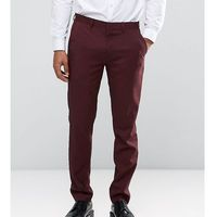 Only & Sons Skinny Suit Trousers In Marl - Red