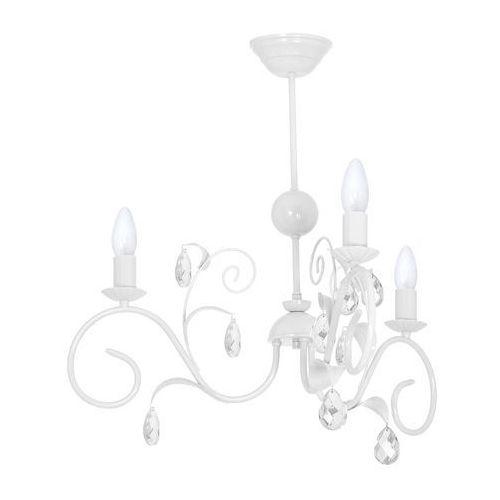 Lampa sufitowa mia mlp 1066 milagro dziecięca oprawa świecznikowa z kryształkami crystal biała marki Luminex