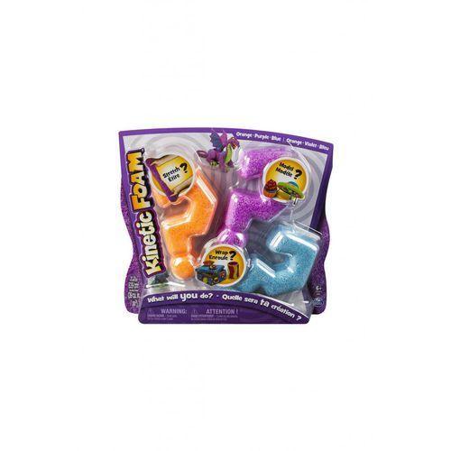 Kinetic foam multi 3-pak pomarańczowy fioletowy niebieski * marki Spin master