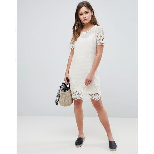 Bellfield Larsa Crochet Lace Dress - White, 1 rozmiar