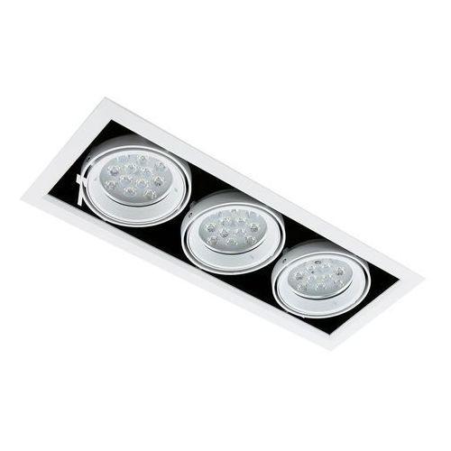 Spot LAMPA sufitowa VERNELLE TG0004-3 Italux metalowa OPRAWA LED 36W prostokątny PLAFON biały