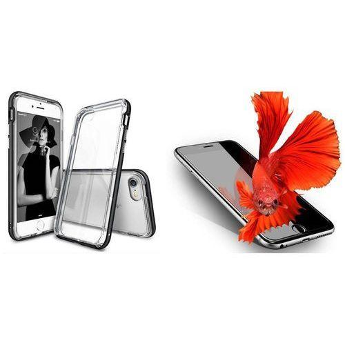 Zestaw   Rearth Ringke Frame Black   Obudowa + Szkło ochronne Perfect Glass dla modelu Apple iPhone 7