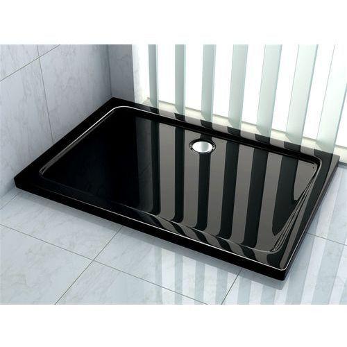 Brodzik prysznicowy akrylowy, kolor czarny 80x120 Rea (5902557325092)