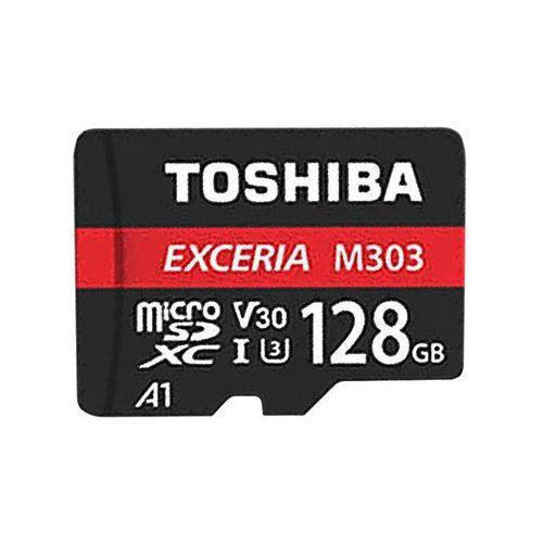 TOSHIBA microSD 128GB M303 UHS-I U3+ ADAPTER