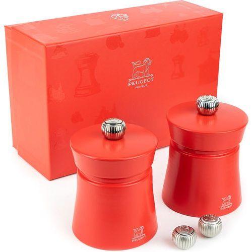 Zestaw prezentowy młynki do soli i pieprzu duo baya czerwone (pg-35242) marki Peugeot
