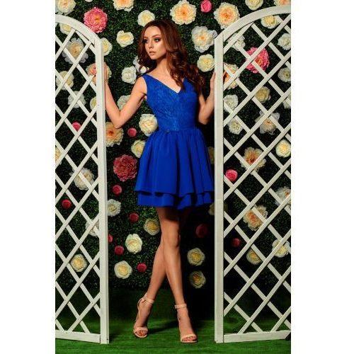 Wieczorowa sukienka mini z koronką L260 chaber, wieczorowa