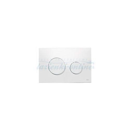 loop przycisk spłukujący do wc z tworzywa, biały 9240600 marki Tece