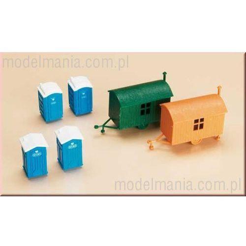 4 toalety + 2 wozy Auhagen 42641 (4013285426416)