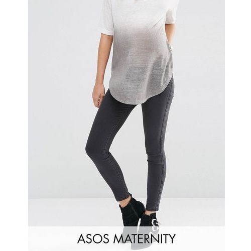 ASOS Maternity Rivington Jegging In Washed Black With Under the Bump Waistband - Black
