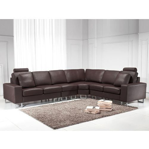 OKAZJA - Stylowa sofa kanapa z brązowej skóry naturalnej narożnik STOCKHOLM