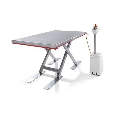 Płaski stół podnośny, seria g, nośność 300 kg, zakres podnoszenia 80 - 750 mm, d marki Flexlift hubgeräte
