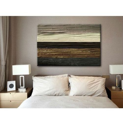 Obraz ręcznie malowany brązowa abstrakcja