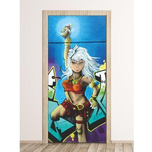Fototapeta naklejka na drzwi graffiti fp 6321 marki Wally - piękno dekoracji