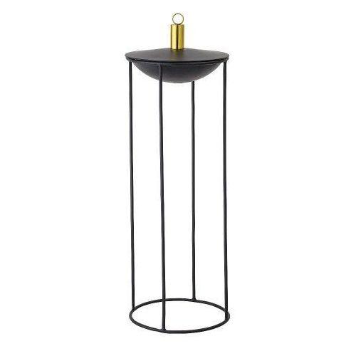 Lampa oliwna na metalowej podstawie, czarna - Bloomingville