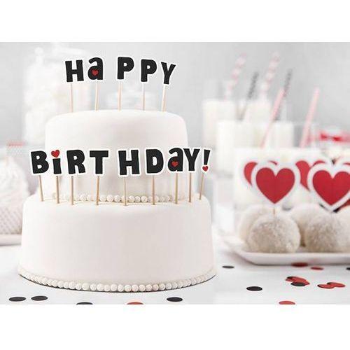 Pikery na tort Happy Birthday! - 14 szt.