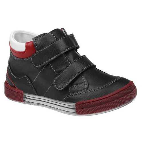 Trzewiki nieocieplane buty 4666 czarne - czarny ||multikolor ||czerwony marki Kornecki