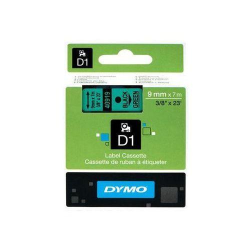 taśma d1 9mm x 7m, czarny na zielonym marki Dymo