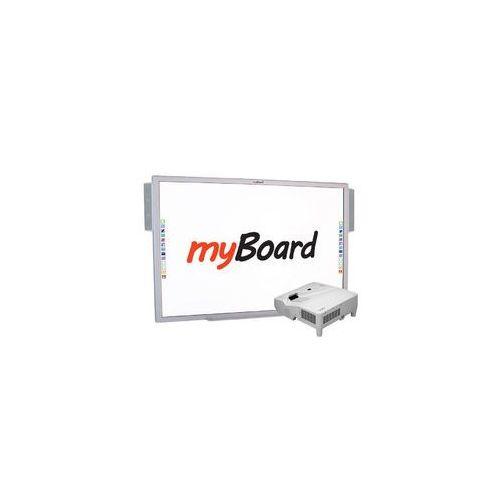 """Myboard Zestaw! silver 95""""s + nec um301w* (ultra short z uchwytem) + okablowanie 10 m (230v, hdmi) + głośniki amp-32"""