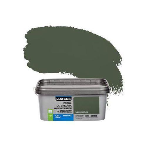 Farba wewnętrzna narażonych na zabrudzenia 2,5 l fabryka zieleni marki Luxens