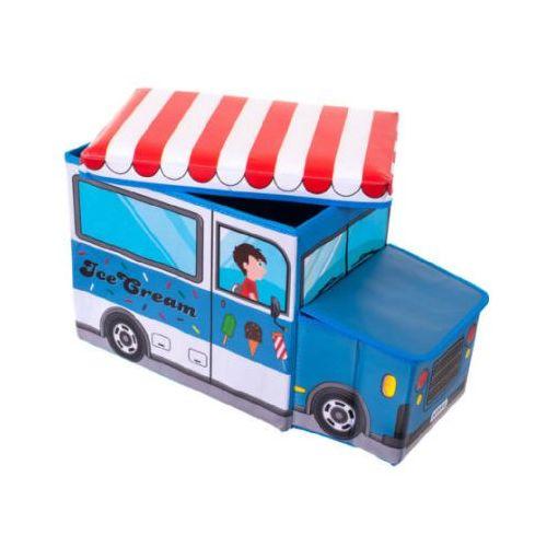 BIECO Skrzynia na zabawki i ławka do siedzenia Wóz z lodami - produkt z kategorii- Pojemniki na zabawki