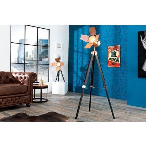 Interior Lampa stojąca movie ii 95-140cm miedziana - czarny, miedziany \ podłogowa